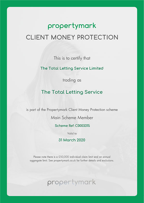 Client Money Protection Certificate Propertymark