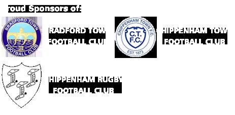 Proud Sponsors of Bradford Town Football Club, Chippenham Town Football Club, Chippenham Town Football Club and Chippenham Rugby Football Club